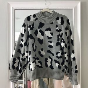 Pink lily boutique leopard sweater